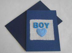 Geboortekaart 'Boy' van FromHelloToGoodbye op Etsy