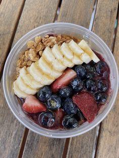 Healthy Eating, Healthy Food, Acai Bowl, Cravings, Vegan Recipes, Good Food, Health Fitness, Fruit, Breakfast