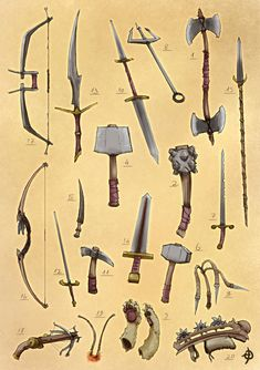 Reznick's Weapons by EyalDegabli | Create your own roleplaying game books w/ RPG Bard: www.rpgbard.com | Pathfinder PFRPG Dungeons and Dragons ADND DND OGL d20 OSR OSRIC Warhammer 40000 40k Fantasy Roleplay WFRP Star Wars Exalted World of Darkness Dragon Age Iron Kingdoms Fate Core System Savage Worlds Shadowrun Dungeon Crawl Classics DCC Call of Cthulhu CoC Basic Role Playing BRP Traveller