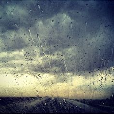 Driving in the rain.