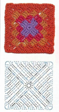 Granny Square häkeln - crochet. I want to make this right now