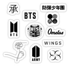 Bts Love Yourself Stickers Pop Stickers, Tumblr Stickers, Printable Stickers, Kawaii Stickers, Bts Sticker, Logo Sticker, Bts Taehyung, Bts Bangtan Boy, Bts Jimin