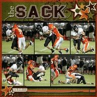 scrapbook layouts for football - Google Search