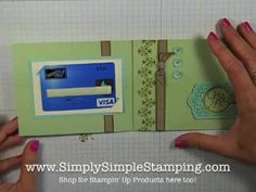 Simply Simple FLASH CARD - Framelit Gift Card by Connie Stewart - YouTube