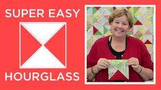 Super Easy Hourglass Quilt | This technique is brilliant!