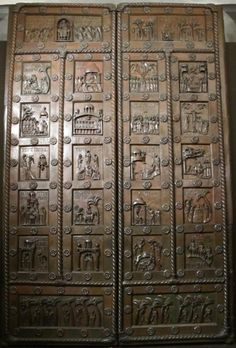 Bonanno Pisano, portale, fine XII secolo, bronzo, Museo dell'Opera del Duomo, Pisa