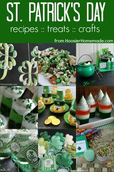 St. Patrick's Day Treats, Crafts and More | from HoosierHomemade.com