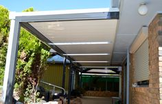 DMV Adelaide builds a wide range of modern carport, pergola, verandah, and patio designs - SA highest quality materials and services at an affordable price Pergola With Roof, Gazebo, Pagola Ideas, Carport Patio, Lawn And Landscape, Roof Structure, Outdoor Living, Outdoor Decor, Flat Roof