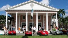 The pavilion at the very exclusive Lyford Cay Golf Club was the setting for Speed Week's concours d'elegance and local resident actor Sean Connery turned up for a look at the cars lined up in the drive for judging.