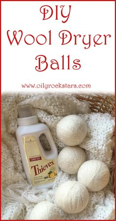 In an effort to make our home a non-toxic environment, we use wool dryer balls as an alternative to dryer sheets or liquid fabric softener. They pair very nicely with my Thieves Laundry Soap. This mama does not want to worry about chemical-filled laundry Cleaners Homemade, Diy Cleaners, Green Cleaners, Wool Dryer Balls, Young Living Oils, Young Living Products, Natural Cleaners, Natural Cleaning Products, Natural Products