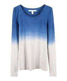 Long Length T-shirt with Tie Dye Print