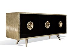 CROCODILE CREDENZA | The Crocodile Brass Credenza by Oliver Bowien | See more at: www.bocadolobo.com #moderncabinets #luxurysideboard