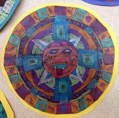 Fifth grade Mayan sun calendar project | Elementary Student Art ...