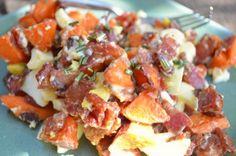 Sweet potato bacon egg salad