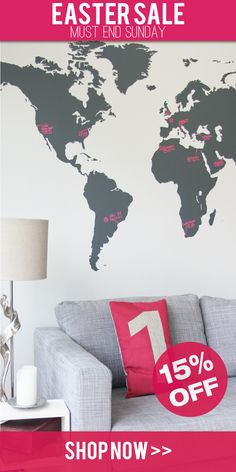 7 x 4 ft world map decal large world map vinyl wall sticker world map vinyl wall sticker publicscrutiny Images