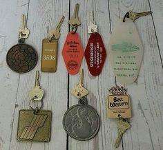 8x Vintage Hotel Keys Lot Las Vegas Casino Canada South Africa BVI USA Brass