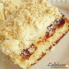 Image may contain: dessert and food Sweet Recipes, Cake Recipes, Vegan Recipes, My Favorite Food, Favorite Recipes, Making Sweets, Churros, Brownie Cake, Dessert Bars