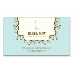 Sweet Giraffe Childcare Boutique Business Card