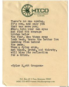 Typewriter Series #1137 by Tyler Knott Gregson*Chasers of the Light, is available through Amazon, Barnes and Noble, IndieBound , Books-A-Million , Paper Source or Anthropologie *