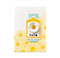 Hello Card Daffodil Delight inks for the Delightful Daffodil's!  on my www.sharonarmstrong.stampinup.net page!