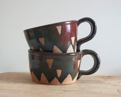 Oversized handmade mugs are perfect for cereal, soup and jumbo cups of caffeine.