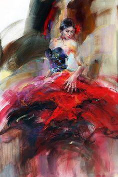 Le FLAMENCO vu par : Anna RAZUMOVSKAYA 01
