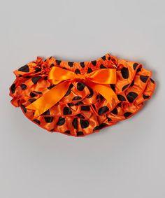 Orange & Black Polka Dot Diaper Cover - Infant