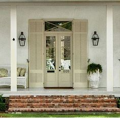 Exterior Render Architecture - Terrazas Exterior Chill Out - Metal Shop Exterior - Louvered Shutters, Interior Window Shutters, Vinyl Shutters, Outside Window Shutters, Cafe Shutters, Door Design, Exterior Design, House Design, Render Architecture