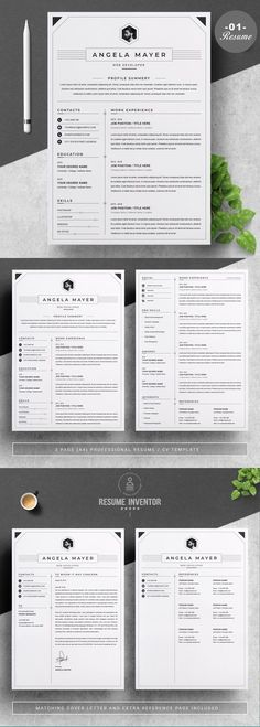 RESUME/CV TEMPLATE | PREMIUM BUNDLE Modern Resume Template, Creative Resume Templates, Cv Template, Cv Design, Resume Design, Cover Letter Template, Letter Templates, Microsoft Word Document, Create A Resume