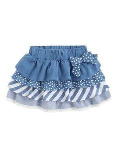 Girl skirt - Mis creaciones a crochet - Kids Outfit Kids Frocks, Frocks For Girls, Little Dresses, Little Girl Dresses, Toddler Dress, Toddler Outfits, Kids Outfits, Baby Girl Fashion, Kids Fashion
