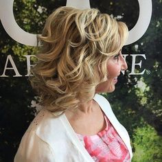 Medium Curly Hairstyle For Women Over 40