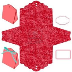 Box template Floral pattern Empty label Stock Photo - 13548275