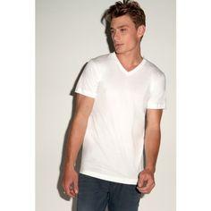 Canvas Jersey V-Neck T-Shirt / #Mens #Short Sleeve #T-Shirt