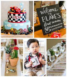 Race To Radiator Springs Cars Themed Birthday Party via Kara's Party Ideas
