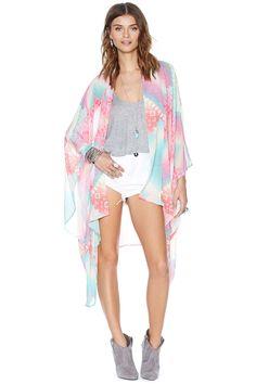 Nasty Gal Rainbow Flow Kimono | Shop Gone Trippin' at Nasty Gal