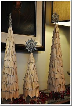Christmas tree Popsicle Stick Craft for kids, DIY Popsicle Stick snowflake Ornaments in 2013