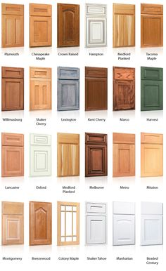 styles+of+kitchen+cabinet+doors | Cabinet door styles by Silhouette Custom Cabinets Ltd. I like the Lexington pattern.