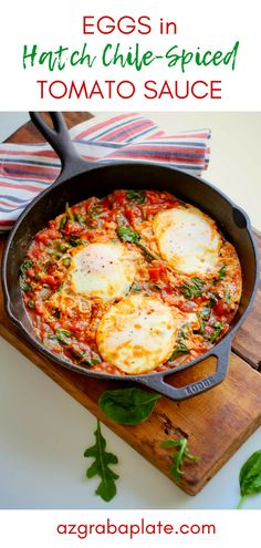 Eggs in Hatch Chile-