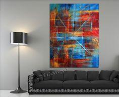 Versier uw huis en Bureau met het meest unieke en de beste kwaliteit abstract schilderij gemaakt door Maitreyii Fine Art.  Meer schilderijen zijn hier beschikbaar: http://www.etsy.com/shop/largeartwork  =========================================================  Titel: Motie van kleuren  GROOTTE: 60 Tall, 44 Wide (un-uitgerekt doek)  ~ ~ KLEUR: rood, wit, oranje, blauw, groen  ============================================================   ~ ~ MEDIUM: professionele kwaliteit acrylverf. Alle…