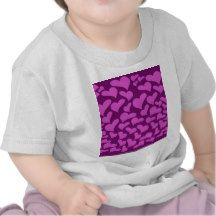 Magenta tone on tone hearts pattern t shirts