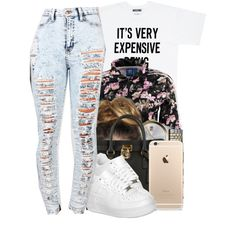 A fashion look from November 2014 featuring summer t shirts, high waisted ripped jeans and adidas originals tracksuit. Browse and shop related looks.