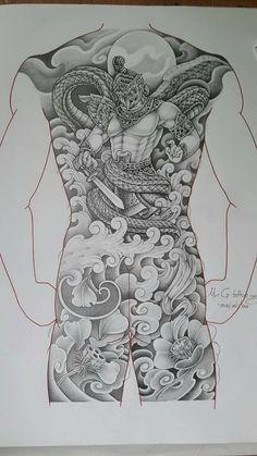 Japanese Tattoo Art, Japanese Tattoo Designs, Japanese Sleeve Tattoos, Buddha Tattoo Design, Buddha Tattoos, Body Art Tattoos, Foo Dog Tattoo, Neo Tattoo, Khmer Tattoo