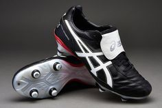 View and buy the Asics Lethal Testimonial ST SG Boots - Blk/Wht/Blood Asics Classics at Pro:Direct SOCCER. Black Football Boots, Soccer Boots, Football Shoes, Football Kits, Soccer Cleats, Cool Boots, Saints, Kicks, Track