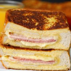 Ham And Cheese Stuffed French Toast - Twisted