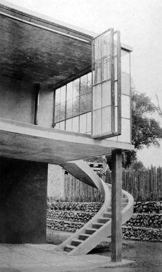 icaronycteris:  Juan O'Gorman: casa en Palmas 81, San Ángel, México D.F:, 1929 [modificada]