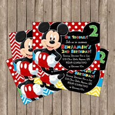 Mickey Mouse Clubhouse Invitation OR Thank You by PeriwinklePapery