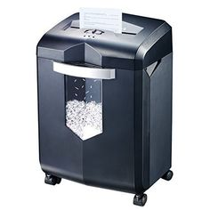 Bonsaii EverShred C149C 18Sheet Crosscut Paper Shredder with 60 Minutes Running Time 6 Gallon Wastebasket Capacity and 4 Casters -- You can find more details by visiting the image link-affiliate link. #PaperShreddersForOffices