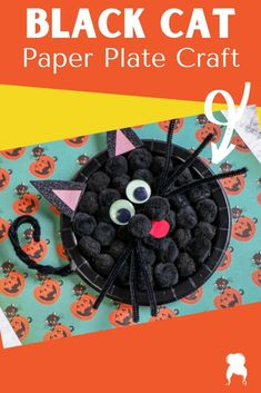 Halloween is such a perfect time for crafty and your little ones will love making this black cat paper plate craft this year!!! #blackcatpaperplate #paperplatecraft #blackcatcraft #halloweencraftsforkids Halloween Cat Crafts, Toddler Halloween, Halloween Activities, Nanny Activities, Happy Halloween, Paper Plate Crafts, Paper Plates, Crafts To Make, Easy Crafts