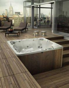 20 Most Beautiful Deck Hot Tub Ideas For Joyful Backyard House, Hot Tub Backyard, Building A Deck, Outdoor Spa, Patio Design, Pool Hot Tub, Tub, Diy Deck, Deck Design