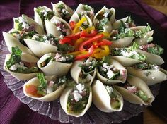 Chopped Salad Appetizer Shells. Photo by Cookin'Diva